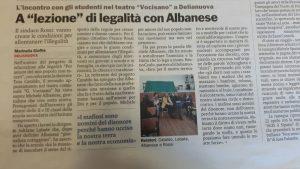 IC DELIANUOVA - INCONTRO CON IL GIORNALISTA MICHELE ALBANESE