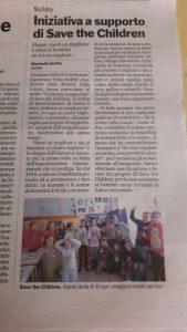 PRIMARIA SCIDO - INIZIATIVA A SUPPORTO DI SAVE THE CHILDREN