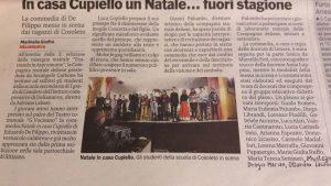 Scuola secondaria di I grado di Cosoleto - Natale in casa Cupiello presentata a Delianuova